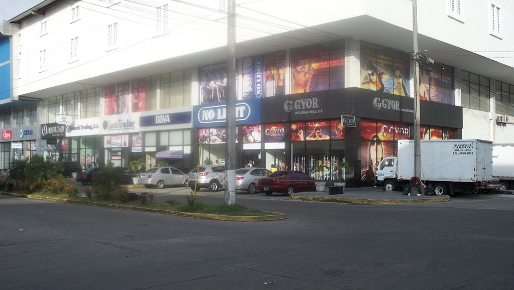 Shops at the Colón Free Zone in Panama