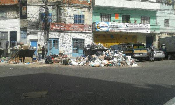 Corners and empty spaces have become permanent dumps in the Libertador district of Caracas, Venezuela.