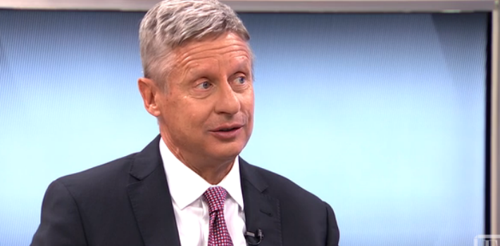 Candidate Gary Johnson claims a war of reducing the government's power over citizens is by lowering taxes (Fortune)