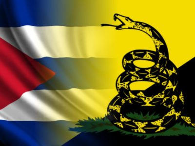 """The rattlesnake represents the libertarian principle of non-aggression: """"do not step on me"""", do not attack without being attacked, only in self-defense. (PanAm Post)"""