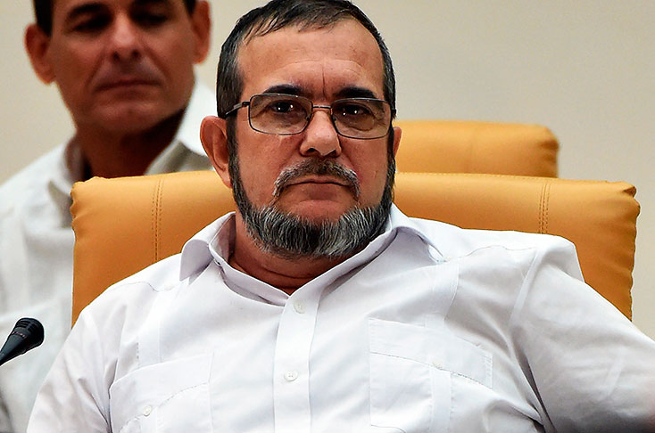 FARC leader Timochenko has thrown his full weight behind Maduro in the wake of a tumultuous week of protests (