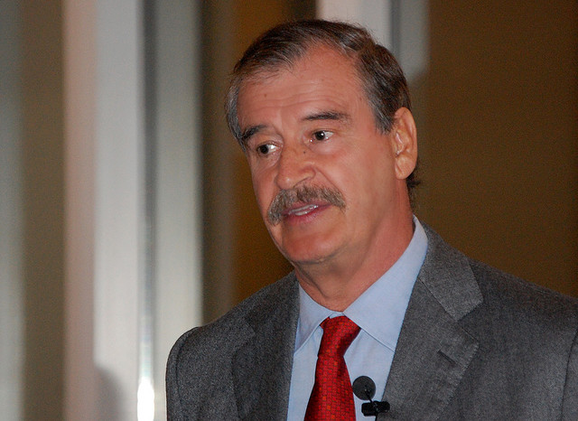 Vicente Fox criticized his successor, Felipe Calderón, and his management of the drug war in Mexico.