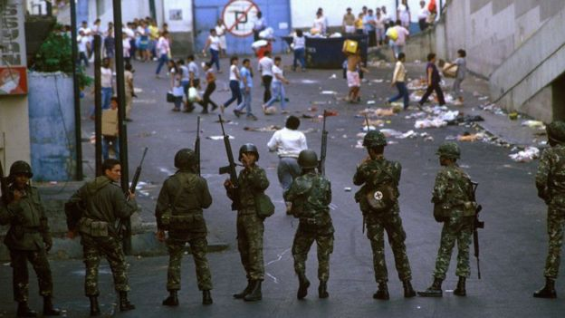 One of the hundreds, perhaps thousands, of victims of the Caracazo in 1989.