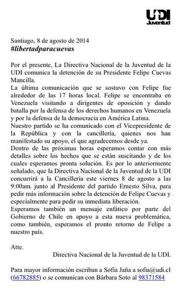 Official press release from the UDI Youth Sector.