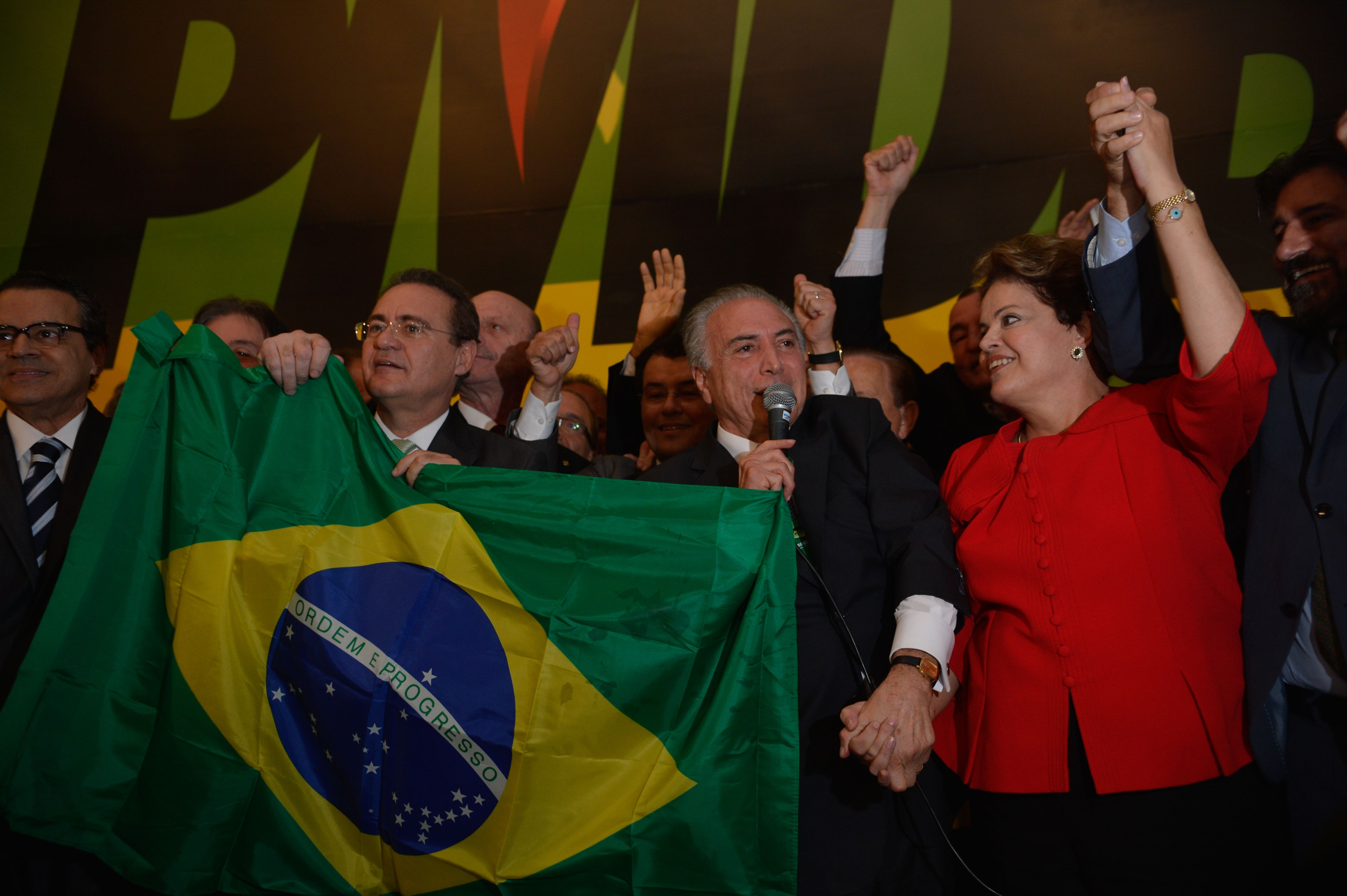 Dilma Rousseff receives support from the PMDB Party for her reelection campaign