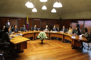 Jorge Pretelt, president of the Constitutional Court, allegedly accepted an illegal bribe from a Colombian oil company. (Corte Constitucional de Colombia).