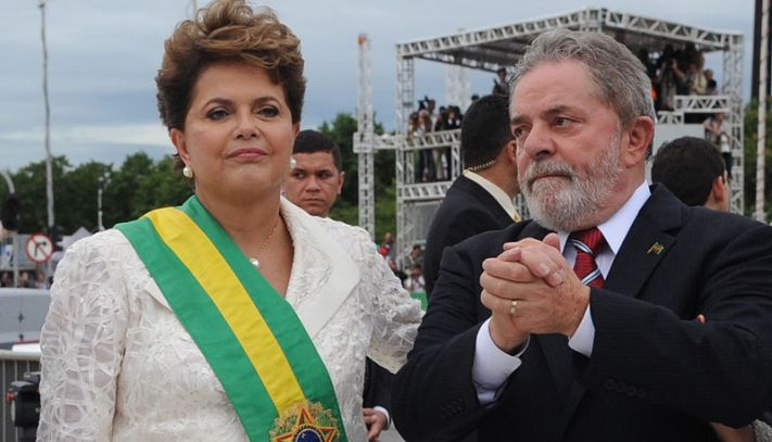 "President Rousseff and former President Lula have embody the corruption at the ruling Workers' Party. (<a href=""https://commons.wikimedia.org/wiki/File:Dilma_e_Lula_01_01_2011_WDO_8439.JPG"" target=""_blank"">Wikimedia Commons</a>)"