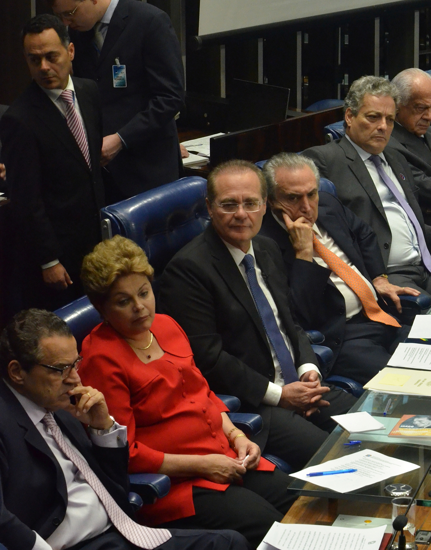 Alves, Rousseff and Calheiros in Congress