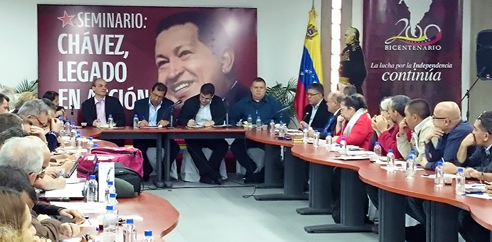 Military authorities, political leaders and Maduro supporters were part of the presentation of the Chávez institution. (Twitter)