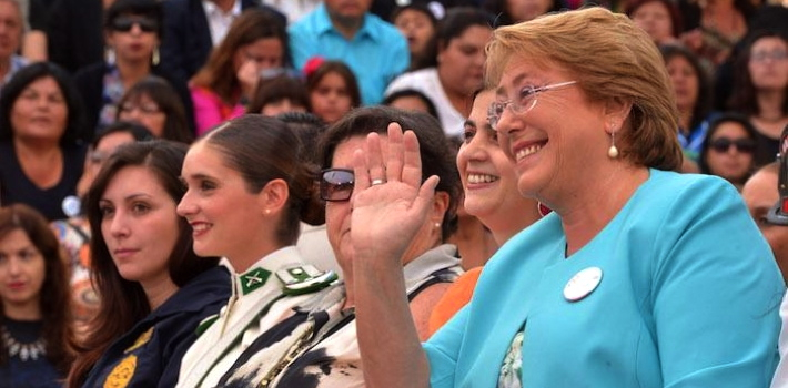 President Michelle Bachelet went all out for International Women's Day, hosting a celebration in Santiago and announcing the creation of a new government ministry specifically for women in Chile. (@GobiernodeChile)