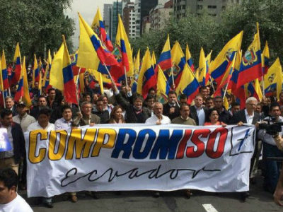 Compromiso Ecuador is committed to preventing the indefinite reelection of President Rafael Correa. (La Hora)