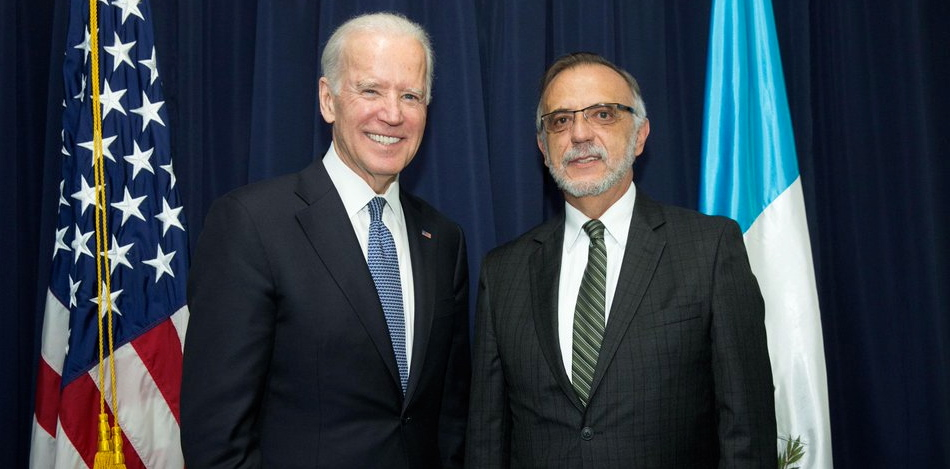 Vice President Joe Biden with CICIG Commissioner Vaszquez. (@LatAmLENS)