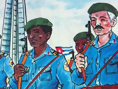 A Cuban text book celebrates loyalty to Fidel Castro: ""