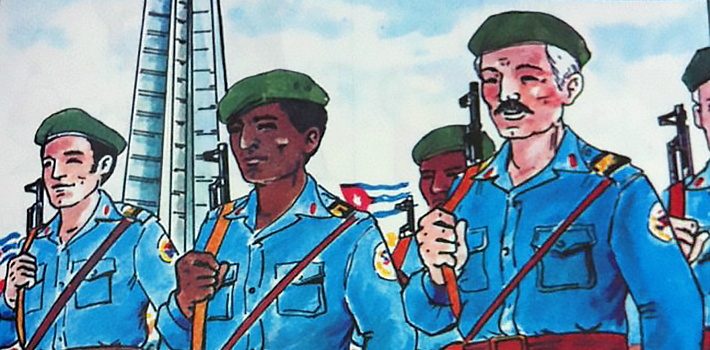 A Cuban text book promotes loyalty to the regime.