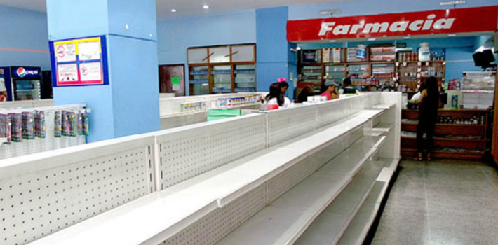 Across Venezuela, the shelves of both private and state-run pharmacies remain mostly empty.