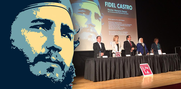 The National University of Lanús recognized the Cuban caudillo for his revolutionary spirit.