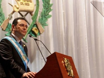 Guatemalan President Jimmy Morales came into office as an outsider and a rejection of the established political class. (Salvadoran Presidency)