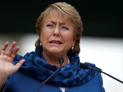 Scandals have brought Bachelet's approval rates to all-time lows. ()