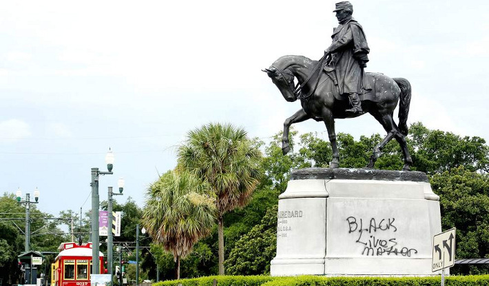 The monument of Confederate General P.G.T Beauregard is one of four monuments targeted for removal by the mayor of New Orleans.