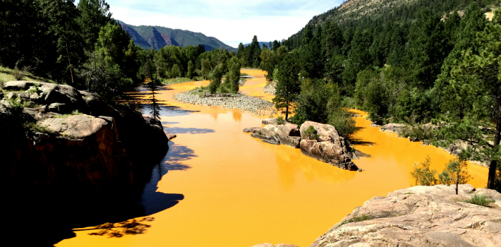 The Animas River in recent days. (Lawyers, Guns, and Money)