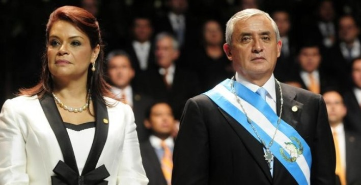 Guatemalan authorities arrested Pérez Molina's former vice president, Roxana Baldetti, on August 21.