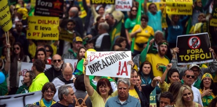 One year later, protests in Brazil against the Rousseff administration and the Workers' Party are stronger than ever.