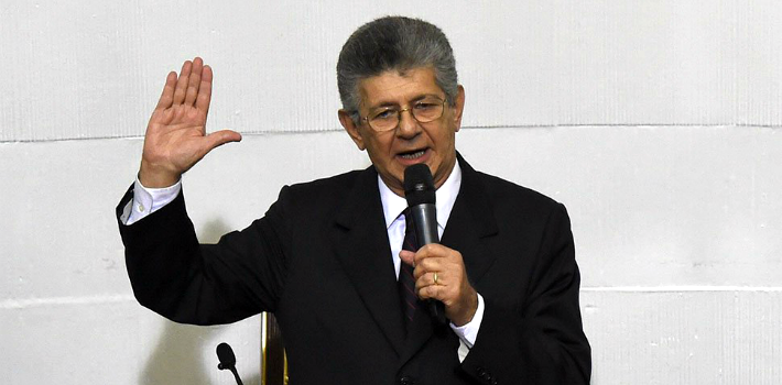 Opposition lawmaker Henry Ramos Allup is the new head of Venezuela's Congress.