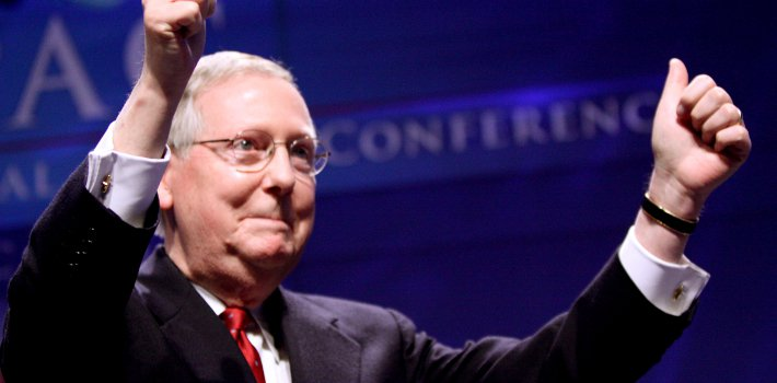 Republican Senator Mitch McConnell is expected to replace Democrat Harry Reid as Senate majority leader. (NPR)