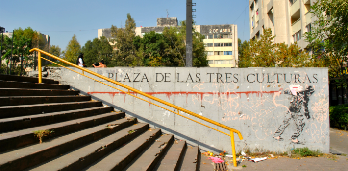 In Mexico City's Plaza of the Three Cultures hundreds of young students died at the hands of the state.