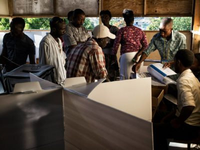 Electoral authorities said about 290,000 voters could not cast ballots. (Igor Rugwiza/ MINUSTAH)