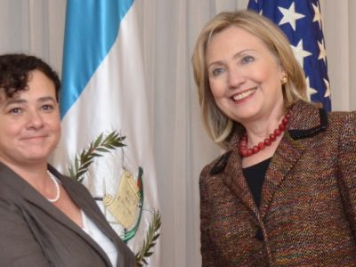 From Hillary with Love: Claudia Paz y Paz and Hillary CLinton