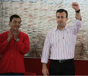 Former Chavista governor, Isea (left), with El Aissami in happier times.