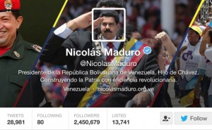 Maduro ranks as the third world's most retweeted public figure, after Pope Francis and the King of Saudi Arabia. (PanAm Post)