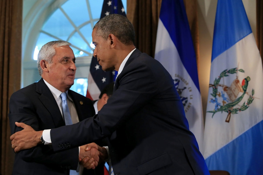 President Pérez Molina met with President Obama during his time in Washington D.C.