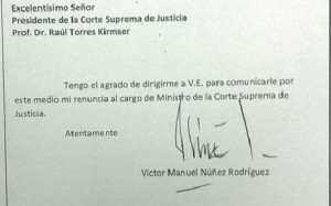 Paraguayan Supreme Court Justice Victor Núñez resigned after accusations surfaced over alleged ties to drug traffickers.