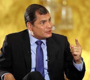 Correa seeks to remain in power indefinitely. Source: Flickr.