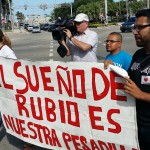 "Immigration protesters didn't mince words: ""Rubio's dream is our nightmare."" (PanAm Post)"