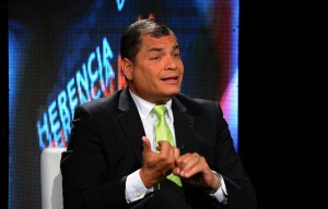 Correa has recently been facing criticism from middle class an business sectors after unveiling plans for new taxes. (Presidency of Ecuador)